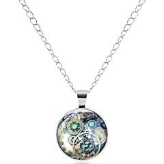 preiswerte Halsketten-Herrn / Damen Anhängerketten  -  Europäisch, Ethnisch, Modisch Silber, Bronze Modische Halsketten 1 Für Ausgehen, Valentinstag