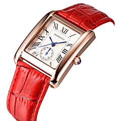 Herre Dame Afslappet Ur Modeur Armbåndsur Kinesisk Quartz Vandafvisende Læder Bånd Vintage Afslappet Elegant Sort Hvid Rød