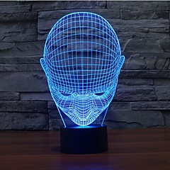 preiswerte Ausgefallene LED-Beleuchtung-1pc 3D Nachtlicht Touch Control Mit USB-Anschluss 5V Mehrfarbig