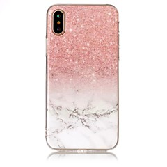 Para iPhone X iPhone 8 Case Tampa IMD Capa Traseira Capinha Mármore Macia PUT para Apple iPhone X iPhone 8 Plus iPhone 8 iPhone 7 Plus