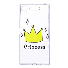 Case For Sony Xperia XZ1 Xperia XA1 Transparent Pattern Back Cover Word / Phrase Soft TPU for Sony Xperia XZ1 Sony Xperia X Sony Xperia