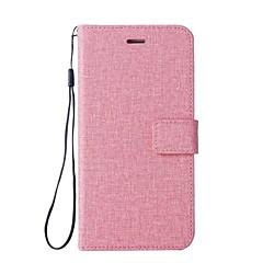 Кейс для Назначение Apple iPhone X iPhone 8 Бумажник для карт Кошелек со стендом Флип Чехол Сплошной цвет Твердый Искусственная кожа для