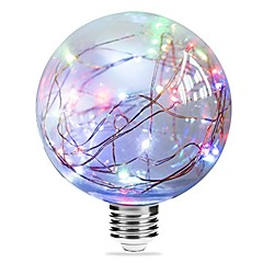 お買い得  LED 電球-1個 3W 250lm E27 フィラメントタイプLED電球 G95 33 LEDビーズ 集積LED 星の マルチカラー ピンク ブルー 85-265V