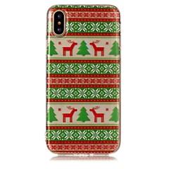 Кейс для Назначение iPhone X iPhone 8 С узором Задняя крышка Животное дерево Рождество Мягкий TPU для iPhone X iPhone 8 Plus iPhone 8