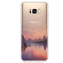 abordables Galaxy S3 Mini Carcasas / Fundas-Funda Para S8 S7 Ultrafina Transparente Diseños Cubierta Trasera Paisaje Suave TPU para S8 S8 Plus S7 edge S7 S6 edge plus S6 edge S6 S6
