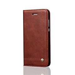 Χαμηλού Κόστους Νέες παραλαβές-tok Για Huawei P10 Plus P10 Lite Θήκη καρτών Πορτοφόλι με βάση στήριξης Ανοιγόμενη Μαγνητική Πλήρης Θήκη Συμπαγές Χρώμα Σκληρή PU δέρμα