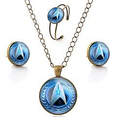 tanie Zestawy biżuterii-Damskie Ponadgabarytowych Biżuteria Ustaw 1 Naszyjnik / 1 Bransoletka / Náušnice - Zwierzęta / Metaliczny / Ponadgabarytowych Circle