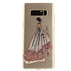 billige Galaxy Note 3 Etuier-Etui Til Samsung Galaxy Note 8 Ultratyndt Transparent Mønster Bagcover Sexet kvinde Blødt TPU for Note 8 Note 5 Edge Note 5 Note 4 Note 3