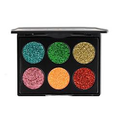 6 színes csillogás szemhéjfesték smink arany hagyma por flitteres szemhéjárnyaló kozmetikumok