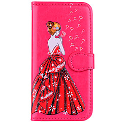 cheap iPhone 6s Cases-Case For Apple iPhone 8 iPhone 8 Plus Card Holder Flip Pattern Embossed Sexy Lady Glitter Shine Hard for