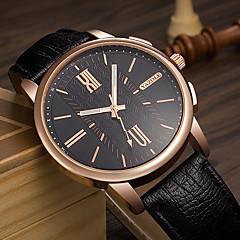 お買い得  メンズ腕時計-YAZOLE 男性用 クォーツ リストウォッチ 中国 夜光計 PU バンド カジュアル クール ブラック ブラウン