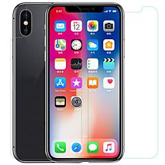 Недорогие Защитные пленки для iPhone X-Защитная плёнка для экрана для Apple iPhone X Закаленное стекло / PET 1 ед. Защитная пленка для экрана и задней панели HD / Уровень защиты 9H / 2.5D закругленные углы