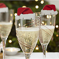 10pcs Karácsony Karácsonyi díszekForÜnnepi Dekoráció 6*3.6*0.2