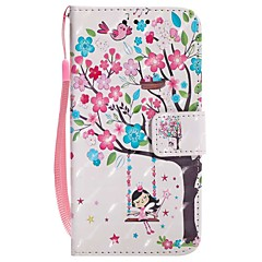 Кейс для Назначение Apple iPhone X iPhone 8 Plus Кошелек Бумажник для карт со стендом Флип С узором Магнитный Чехол дерево Твердый