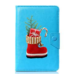 univerzální vánoční vzory pu kožené pouzdro na kufřík pro 7 palcový 8 palcový 9 palcový 10 palcový tablet pc