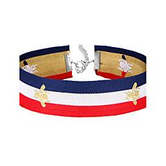 Dames Choker kettingen Kraag Lijnvorm Bij Doek Legering Eenvoudig Vintage Sieraden Voor Dagelijks AvondFeest