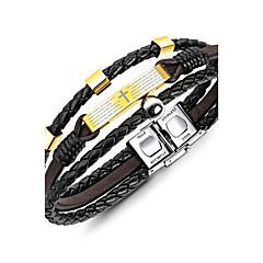 preiswerte Armbänder-Herrn Geometrisch Manschetten-Armbänder / Armband - Klassisch, Retro, Modisch Armbänder Gold Für Geschenk / Normal
