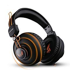 ovann x7 전문 게임용 헤드셋 - 검정색과 오렌지색