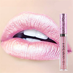 Χαμηλού Κόστους Μακιγιάζ Χειλιών-6colors μακιγιάζ μεταλλικό αδιάβροχο διαμάντι λάμψη κραγιόν καλλυντικά lip gloss