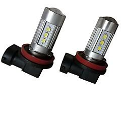 Недорогие Противотуманные фары-2pcs 9003 / H8 / 9006 Автомобиль Лампы 35W SMD 3030 2800lm 10 Противотуманные фары For Универсальный Все модели Все года