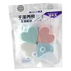 4 stk Poederdons/Cosmeticaspons Heart Shape Dames