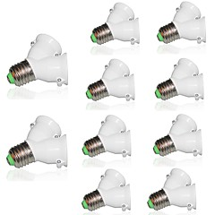 耐火材料e27から2 e27電球ベースタイプ2e27 y形状スプリッタアダプタ220-240vと10pcsランプホルダーコンバータソケット変換
