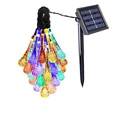 billiga LED-ljusslingor-Ljusslingor 30 lysdioder Varmvit Vit Multifärg Lila Blå Vattentät 85-265V