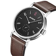 preiswerte Herrenuhren-BIDEN Herrn Armbanduhr Japanisch Armbanduhren für den Alltag Leder Band Freizeit / Modisch / Elegant Schwarz / Braun
