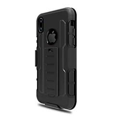 Кейс для Назначение Apple iPhone X iPhone 8 Plus со стендом Задняя крышка Сплошной цвет броня Твердый PC для iPhone X iPhone 8 Plus