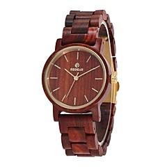 お買い得  大特価腕時計-女性用 リストウォッチ 日本産 クォーツ 木製 ウッド バンド ハンズ エレガント ミニマリスト ウッド レッド - コーヒー 1年間 電池寿命 / Sony SR626SW
