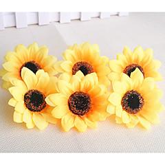 Недорогие Женские украшения-10 Филиал Пластик Подсолнухи Букеты на стол Искусственные Цветы