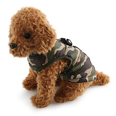 cheap Dog Clothing & Accessories-Dog Coat Vest Dog Clothes Camouflage Red Green Blue Pink Camouflage Color Cotton Costume For Pets Men's Women's Casual/Daily