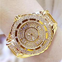 preiswerte Damenuhren-Damen Armbanduhr Japanisch Edelstahl Band Silber / Gold