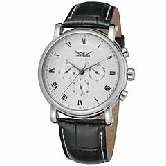 billige Mekaniske ure-Jaragar Herre Automatisk Selv-optræk Armbåndsur Sej Læder Bånd Afslappet / Mode