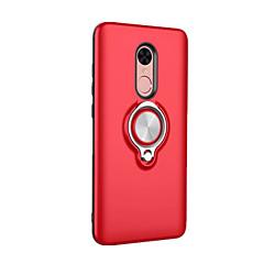 Недорогие Чехлы и кейсы для Xiaomi-Кейс для Назначение Xiaomi Redmi Note 4X Redmi 4X Кольца-держатели Кейс на заднюю панель Сплошной цвет Твердый ПК для Xiaomi Redmi Note
