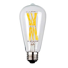 tanie Żarówki LED-KWB 1szt 9W 1100 lm E26/E27 Żarówka dekoracyjna LED ST64 12 Diody lED COB Ciepła biel AC 220-240V