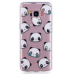 billige Galaxy Note 4 Etuier-Etui Til Note 8 Ultratyndt Transparent Mønster Bagcover Flise Panda Blødt TPU for Note 8 Note 5 Edge Note 5 Note 4 Note 3 Lite Note 3