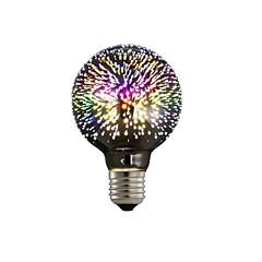 preiswerte LED-Birnen-1pc 4W 350lm E26 / E27 LED Kugelbirnen G80 28 LED-Perlen Integriertes LED 3D Feuerwerk sternenklar Dekorativ Mehrere Farben 85-265V