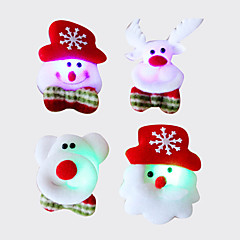 Χαμηλού Κόστους -12pcs Χριστούγεννα Σάντα καρφίτσα flash ύφασμα φωτεινή διακόσμηση Χριστουγέννων χριστουγεννιάτικο δώρο (στυλ τυχαία)