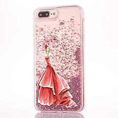 Кейс для Назначение iPhone 7 Plus Движущаяся жидкость С узором Задняя крышка Соблазнительная девушка Сияние и блеск Твердый PC для iPhone