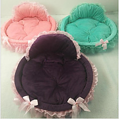Cat Dog Bed Pet Mats & Pads Solid Warm Portable Foldable Pink Green Purple