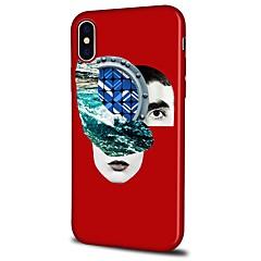 Недорогие Кейсы для iPhone 5-Кейс для Назначение Apple iPhone X iPhone 8 Plus С узором Задняя крышка Пейзаж Геометрический рисунок Мягкий TPU для iPhone X iPhone 8