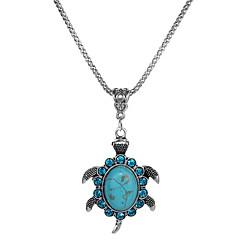 preiswerte Halsketten-Damen Kristall Anhängerketten - Türkis Schildkröte, Tier Einfach, Modisch Türkis Modische Halsketten Schmuck 1 Für Geschenk, Party