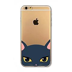 Недорогие Кейсы для iPhone 5-Кейс для Назначение Apple iPhone 8 iPhone 8 Plus Защита от удара Полупрозрачный С узором Кейс на заднюю панель Кот Мягкий ТПУ для iPhone