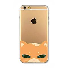 Недорогие Кейсы для iPhone 5с-Кейс для Назначение Apple iPhone 8 iPhone 8 Plus Защита от удара Полупрозрачный С узором Кейс на заднюю панель Кот Мягкий ТПУ для iPhone
