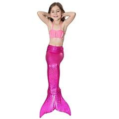 The Little Mermaid Fürdőruha Bikini Gyermek Karácsony Álarcos mulatság Fesztivál / ünnepek Mindszentek napi kösztümök Rózsaszín Kék Zöld