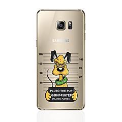 tanie Galaxy S6 Etui / Pokrowce-Kılıf Na Samsung Galaxy S8 Plus S8 Wzór Czarne etui Pies Miękkie TPU na S8 Plus S8 S7 edge S7 S6 edge plus S6 edge S6