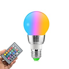 1pc 5W E27 LED Globe Bulbs 5 leds SMD Remote-Controlled Decorative RGB+White 400lm 2000-8000K AC 85-265V