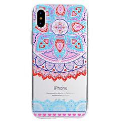 Недорогие Кейсы для iPhone 5-Кейс для Назначение Apple iPhone X iPhone 8 Plus С узором Кейс на заднюю панель Кружева Печать Мягкий ТПУ для iPhone X iPhone 8 Pluss