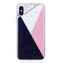 Недорогие Кейсы для iPhone 5-Кейс для Назначение Apple iPhone X / iPhone 8 Plus IMD Кейс на заднюю панель Мрамор Мягкий ТПУ для iPhone X / iPhone 8 Pluss / iPhone 8